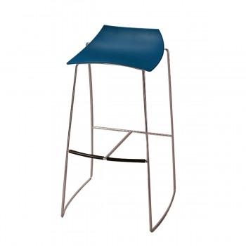 Barstuhl Hoop, blau
