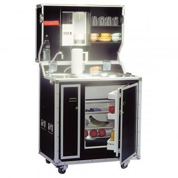 Kitcase-Kompaktküche, schwarz
