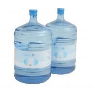 Nachfüllset für Wasserspender mit zwei 18,9 l Wasserflaschen und 200 Trinkbechern