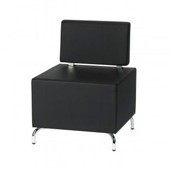 Sitzelement Multi II (mit Rückenlehne), schwarz