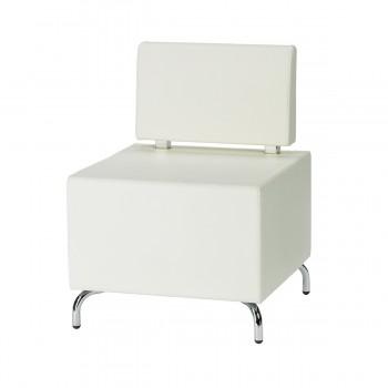 Sitzelement Multi II (mit Rückenlehne), weiß