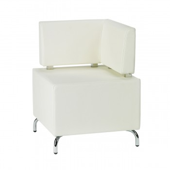 Sitzelement Multi III (Eckelement), weiß