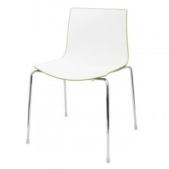 Stuhl Catifa, weiß-grün