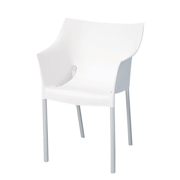 Stuhl Dr No weiß Sitzmöbel EXPO Mietmöbel