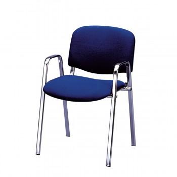 Stuhl Dublin mit Armlehnen, blau