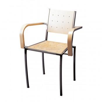 Stuhl Pico mit Armlehnen, natur