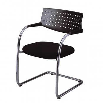 Stuhl Visavis, schwarz