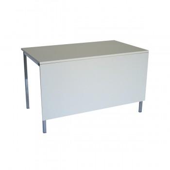 Tisch Standard 120 mit Blende, weiß